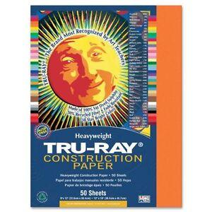 "Tru-ray Construction Paper - 9"" X 12"" - Orange (PAC103002)"