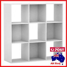 NEW White 9 Cube Shelf Bookcase Storage Unit  Display Book 890mmx888mmx293mm