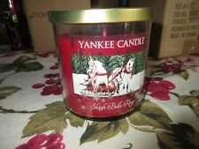 New Yankee Candle Medium 12.5 oz Jar SLEIGH BELLS RINGS 2 Wick