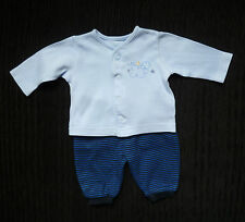Baby clothes BOY premature/tiny<7.5lbs/3.4kg outfit cardigan-style top/trousers