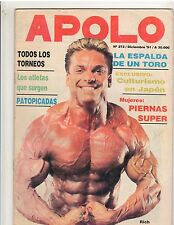 Apolo Muscle Magazine Rich Gaspari Argentina Magazine Spanish Text 12-91
