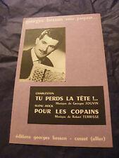 Partition One size lose la head For copains Georges Besson 1963 Autographed