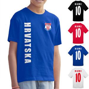 Kroatien Hrvatska Kinder Trikot Fanshirt T-Shirt WM 2022 Name Nummer