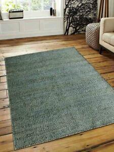 Farmhouse Oriental Green Hand Woven 3' x 5' Jute Carpet Indian Area Rug 5' x 8'