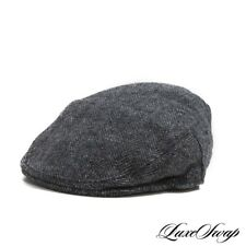 Doogan Made in England Irish Donegal Tweed Grey Herringbone Flat Cap Hat S NR