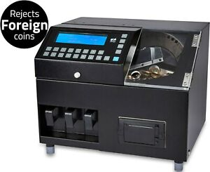 COIN MONEY COUNTER SORTER MACHINE CASH CURRENCY COUNTING GBP AUTOMATIC UK ZZAP