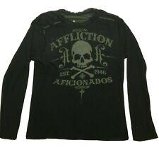 Affliction Thermal Reversible Shirt Long Sleeve Skull Aficionados Jersey XL