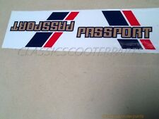 Honda C70 Passport battery tool side covers BLUE/RED stickers decals logos H2352