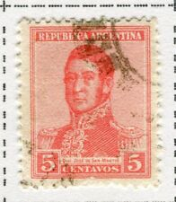 ARGENTINA;  1917 early San Martin issue fine used 5c. value