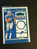 F63803  2019 Panini Contenders Rookie Ticket Swatches T.J. Hockenson LIONS