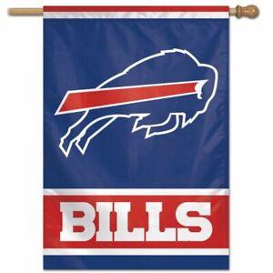 """BUFFALO BILLS MEGA LOGO 28""""X40"""" HOUSE FLAG BANNER NFL LICENSED"""