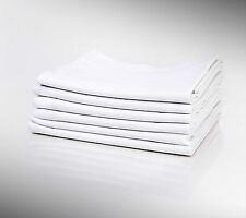 6 New Bright White Standard Size Linen Pillow Cases 20X32 Cotton Blend T-250