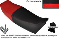 BLACK & RED CUSTOM FITS YAMAHA FZ 750 85-91 GENESIS LEATHER SEAT COVER