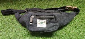 Natural Hemp & Cotton black color Bum Bag funky waist belt very trendy vegan
