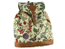 Signare Ladies Woven Tapestry Rucksack / Backpack / Bag In Morning Garden Design