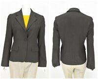 Womens Max Mara Suit Blazer Jacket Grey Striped Wool & Viscose Size IT40 UK8