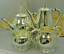International Coffee &Tea Set Royal Danish Pattern in Sterling Silver 4pc