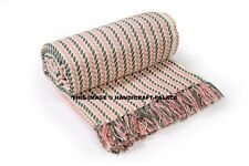 """Pure Cotton Cable Extra Soft for Couch Bed Sofa Knitted Throw Blanket 60"""" x 81"""""""