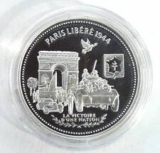 MÉDAILLE EN ARGENT - LIBERTÉ ÉGALITÉ FRATERNITÉ - PARIS LIBERE 1944
