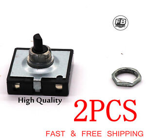 2PCS 4 Position 3 speed Fan Selector rotary switch