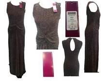 Binky Brompton Glitter Lurex Knot Maxi Dress High Leg Slit Size 14