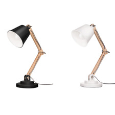 Tomons Wooden Swing Arm Lamp Adjustable Height Design For Office Study Room