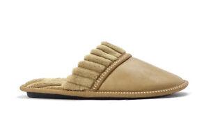 New Men's Classic PU House Slipper Rubber Bottom Warm  Comfortable Outdoor-0270M