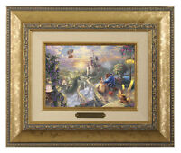 Thomas Kinkade Beauty and the Beast Framed Brushwork (Gold Frame)