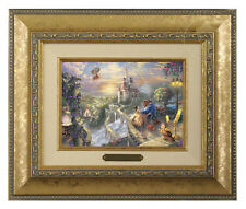 Thomas Kinkade Beauty and the Beast Framed Brushwork (Gold Frame)
