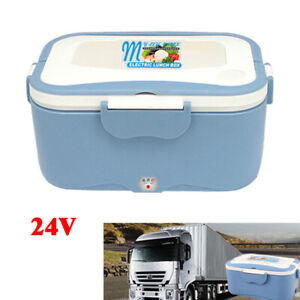 24V Truck 1.5 L Electric Lunch Container Box Portable Travel Food Heater Durable
