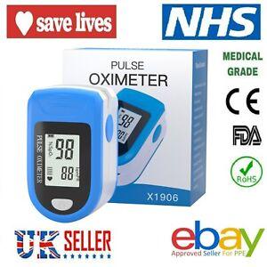 Fingertip Pulse Oximeter Blood Oxygen Monitor Saturation SpO2 Finger Meter PR