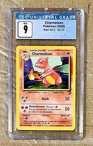 9.0 PSA NM Mint + Charmeleon Pokemon NON SHADOWLESS Base Set (2000) CGC - 35/130