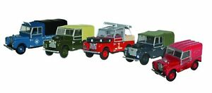OXFORD DIECAST COLLECTABLE LAND ROVER 5 Piece Set 1:76 Scale BNIB Last One