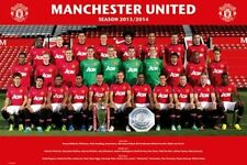 SOCCER POSTER Manchester United Football Club Team Photo 2013 2014