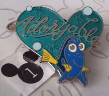 Dory Adoryable Blue Green Heart Finding Dory Nemo 2016 Pixar Disney Pin 114907