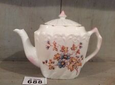 Antique China Small Teapot Hand Painted Floral Design Pink Gilding