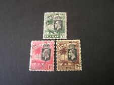 GAMBIA, SCOTT # 102+104+111. 1/2p+11/2p+71/2p. VALUES 1922-27  KGV  ISSUE USED