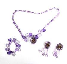 Disney Little Mermaid Ariel Jewelry Set Kids Bracelet Necklace Earrings Costume