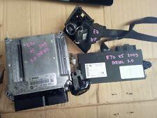 BMW E70 X5 IGNITION KEY ECU BARREL LOCK SET 3.0D DIESEL DDE 8509035 BIMMER005
