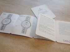 Ebel Beluga Moonphase Instruction booklet