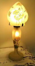 Lampe champignon opaline pâte de verre soufflé unique signée Lily originale