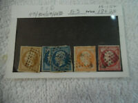 5 Rare France Stamps Empire Franc A3 Postes 10c 20c 40c 80c 160-40W