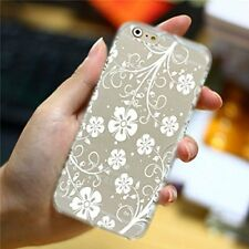 """Cover Guscio Rigido Apple iPhone 6 6S Plus 5.5"""" Riacamo Fiori Bianco White"""