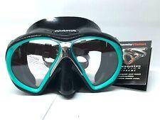 New ATOMIC AQUATIC SubFrame Diving Mask Black/Aqua 04-0136-00