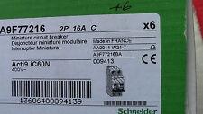 1 x DISJONCTEUR  iC60N  2P C16 16A  SCHNEIDER