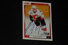 DION PHANEUF 2006-07 UD VICTORY SIGNED AUTOGRAPHED CARD #30 FLAMES