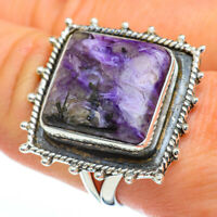 Large Charoite 925 Sterling Silver Ring Size 8.75 Ana Co Jewelry R45395F