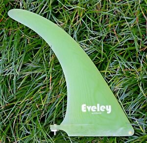 9.25 inch One Only Eveley longboard fin Pro Glass translucent lime colour
