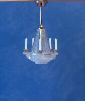 1/12, dolls house Miniature Lighting Crystalline Chandelier light / lamp NEW LGW