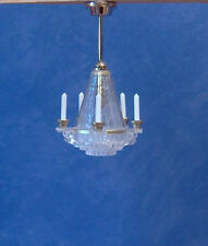 1/12, dolls house Miniature Lighting Crystalline Chandelier light / lamp NEW LGW